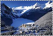Lake Louise, Alberta, Canada - Chateau Lake Louise in the Winter