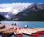 Canoe rentals in the Canadian Rockies