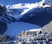 Chateau Lake Louise in the winter